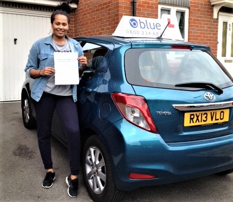 Congratulations to Nikolle Medford from Reading, Berkshire who passed her drivin test
