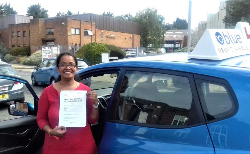 Reading Driving Test pass for Shakuntala