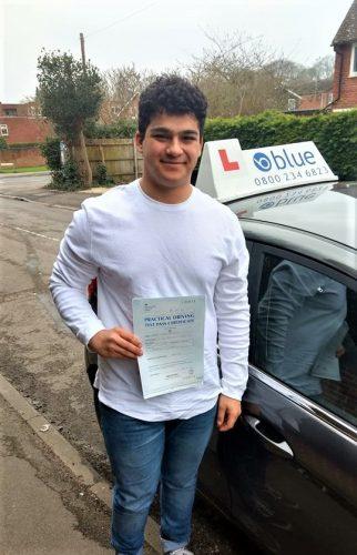 Reading Driving Test Pas for Bobak Mivehchi