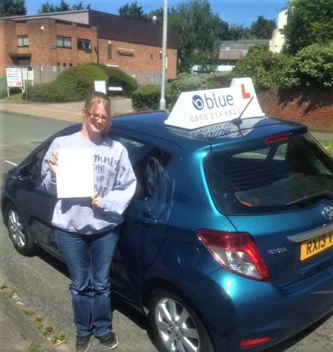 Driving test pass Siobhan Street from Reading Berkshire