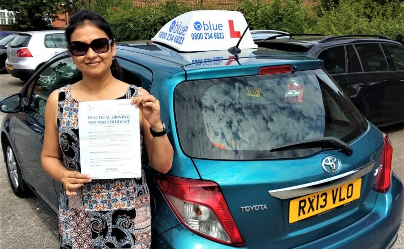 Reading Driving Test pass for Puloma Kundu
