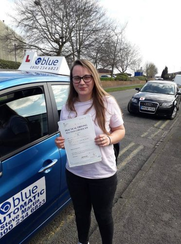 Reading Driving Test pass for Emily Fisher