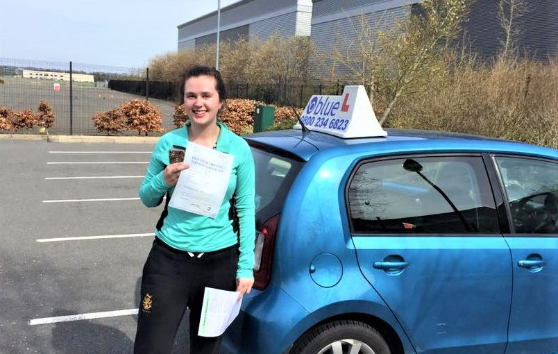 Holly Wright from Sandhurst passed driving test in Farnborough