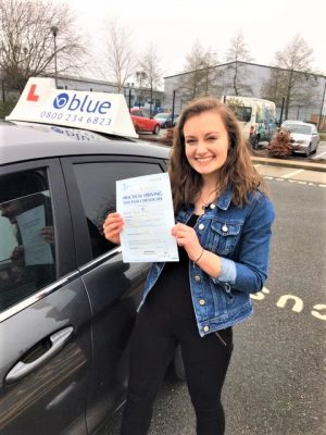 Sandhurst Driving Test pass for Katie Youster