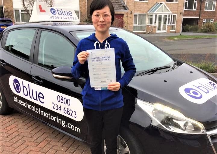 Rita Chenxiao Guo from Sandhurst passed her driving test in Farnborough