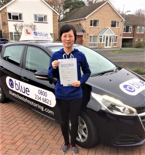 Sandhurst Driving test pass for Rita Chenxiao Guo