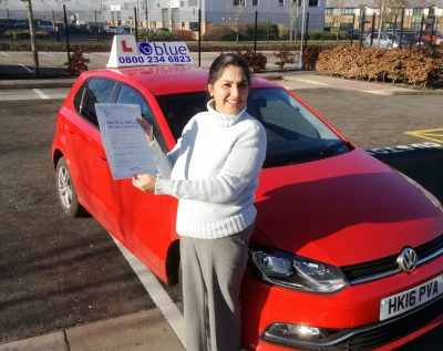Farnborough Driving Test for Shaveta