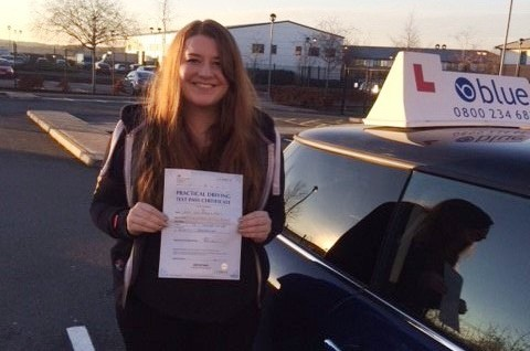 Great result for Sian Paes from Wokingham, Berkshire who passed her driving test in Farnborough on her very FIRST attempt