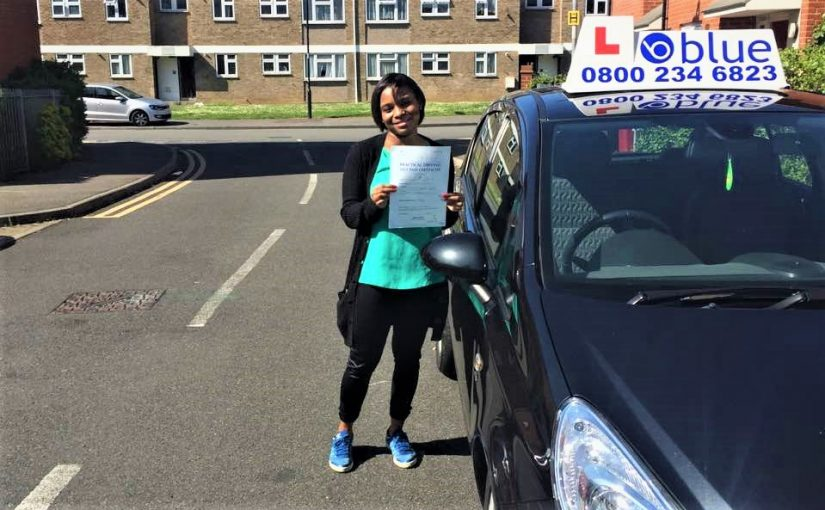 Well done to Shanice, for passing her driving test first time in Slough Berkshire
