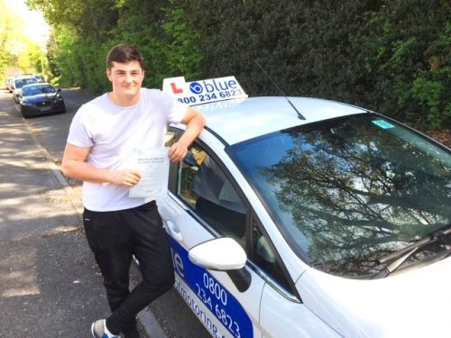 Driving Test Pass for Frasier Cutt of Cheapside in Slough, Berkshire