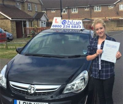 Slough Driving Test Pass for Lanaya