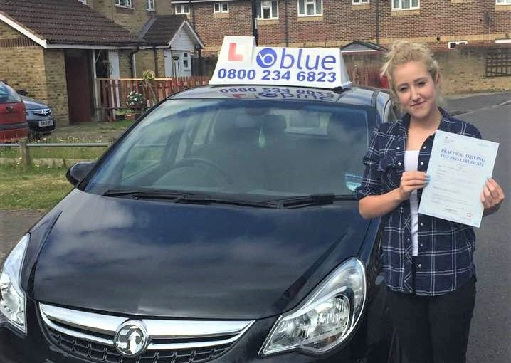 Congratulations Lanaya Coates of Slough on passing driving test first