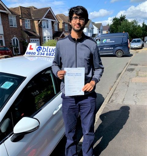 Slough Driving Test pass for Zohair Din
