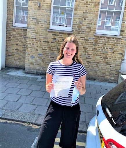Elizabeth Wales passed her driving test in Slough Berkshire
