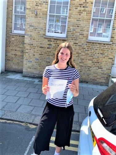 Slough Driving Test pass for Elizabeth Wales