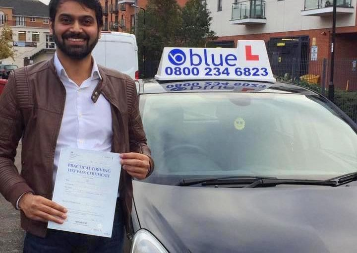 Well done Farrukh, passed his driving test in Slough FIRST attempt with only one minor