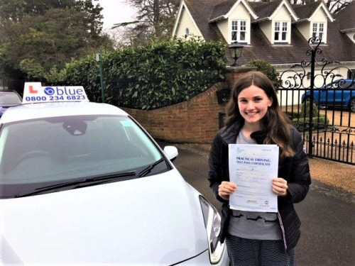 Sunningdale Driving Test Pass for Alice Myers