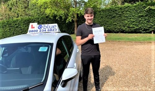 Will Goderski of Sunningdale passed his driving test