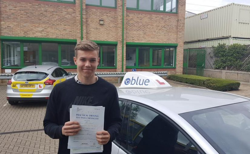 Harry Jordan, Sunninghill, Berkshire passed his driving test Very First Time
