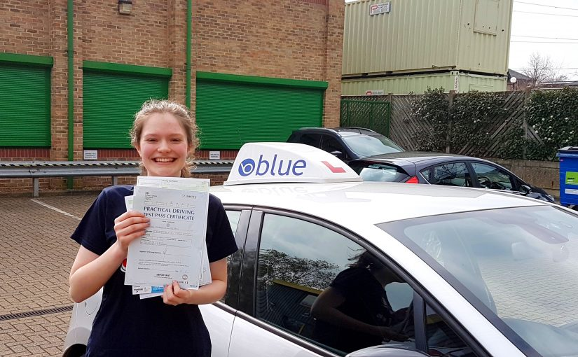 A brilliant result, for Nicole Warren of Sunningdale, Berkshire who passed her driving test with only One little fault