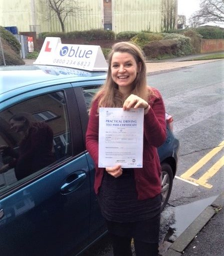 Maria Woodridge from Tilehurst Passed her test in Reading