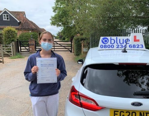 Tilly O'Dea of Windsor passed her Driving test in Slough