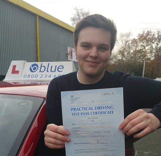 Well done Tim on passing your driving test