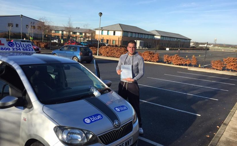 Well done Tommy Cox from Yateley who passed his driving test first time in Farnborough