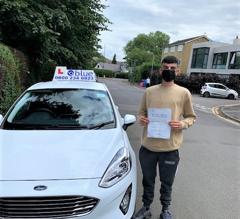 Tommy of Windsor passed Driving Test