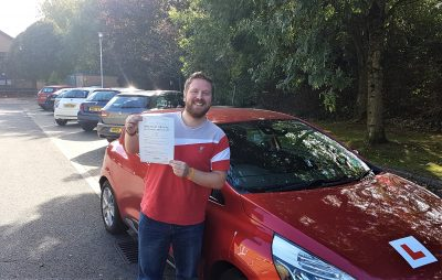 Trowbridge Driving Test Pass for Adam Franks