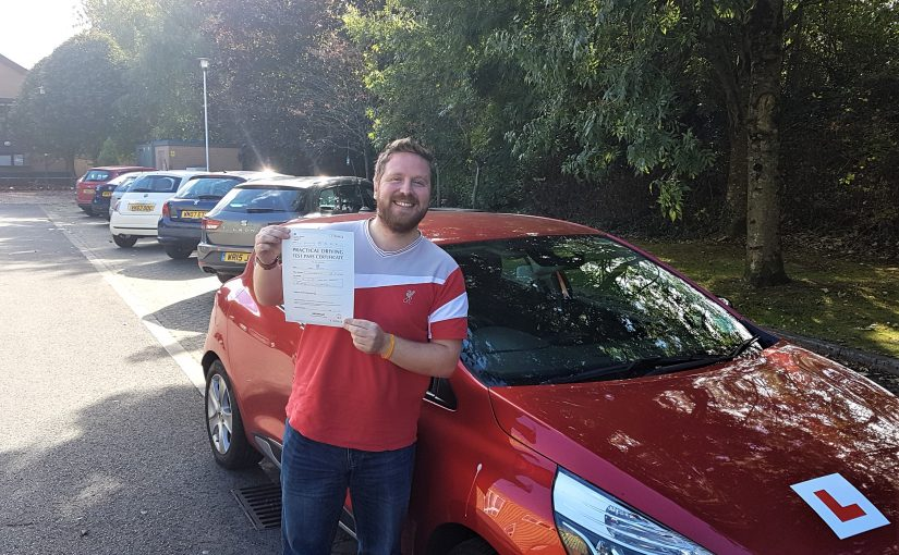 Adam Franks of Trowbridge, Wiltshire who passed his driving test