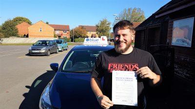 Trowbridge Driving Test Pass for Luke Dorman