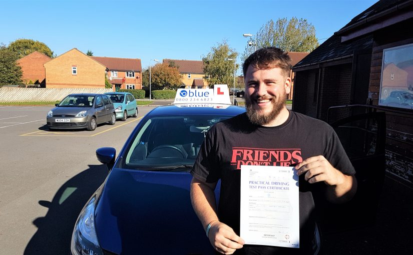 Luke Dorman of Trowbridge Wiltshire passed driving test