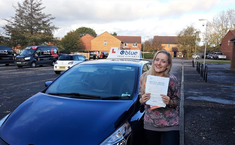 Charlotte Johnson of Trowbridge in Wiltshire passed her driving test