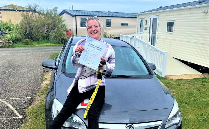 Victoria Fleming from Somerset passed Her Driving Test