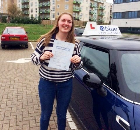 Congratulations to Alyssa Nicholls from Warfield on passing her driving test