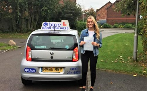 Amelia Day from Warfield who passed driving test first time