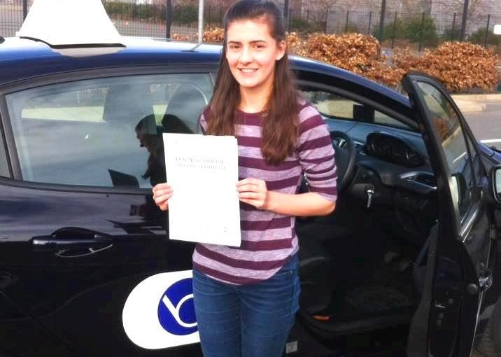 Huge congratulations to Rachel Lammin from Warfield on passing her driving test today at Farnborough