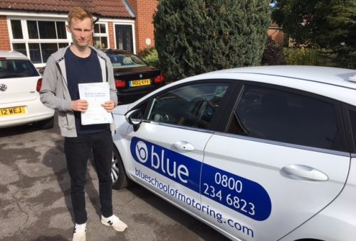 Alex Bennett of Warfield Berkshire passed his driving test in Chertsey