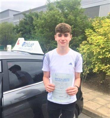 Warfield Driving Test pass for James Fletcher