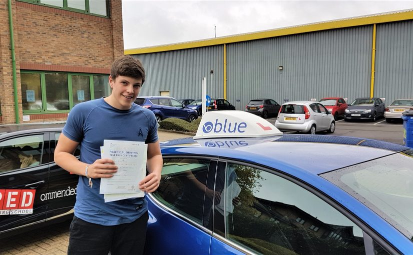 Tom Walker of Windlesham Surrey passed his driving test FIRST time with ZERO minors