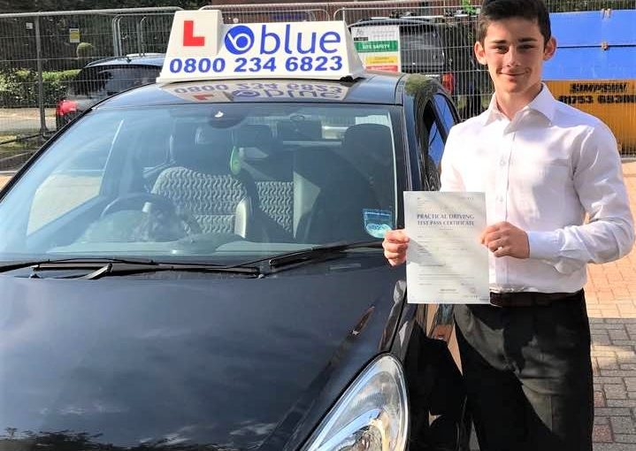 Dani from Windsor passed his driving test this morning in Slough