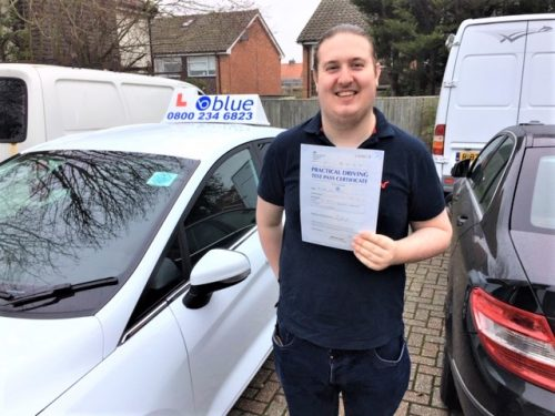 Windsor Driving Test pass for Robbie Whearty