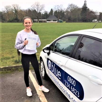 Roma Longster of Windsor, Berkshire passed her driving test