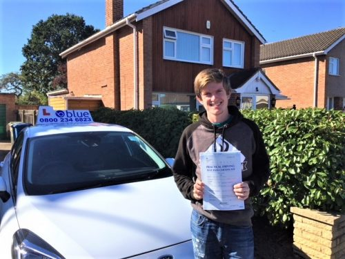 Stevie Creasy of Windsor passed his driving test in Slough