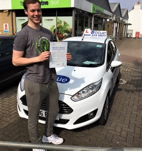 First Time pass for Toby Baxter of Windsor passed his driving test in Slough