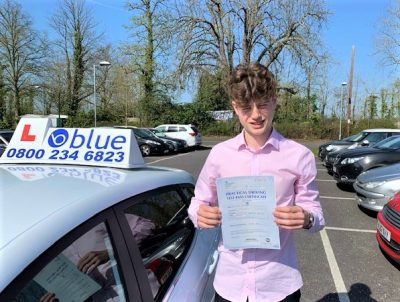 Windsor Driving Test Pass for Finn Cox