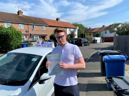 Windsor Driving Test Pass for Harry Ridley