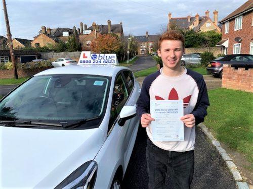 Windsor Berkshire Driving Test Pass for Sam Brudney