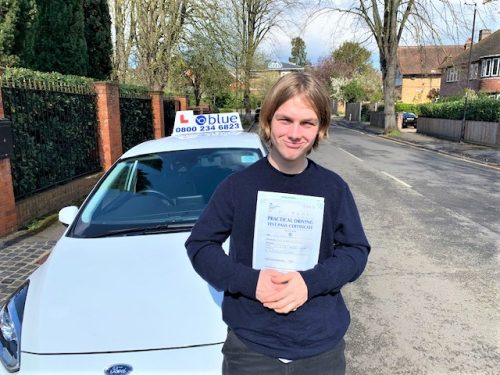 Windsor Driving Test pass for Sam Selby of Windsor